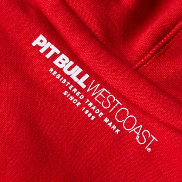 Pit Bull Bluza z kapturem CLASSIC BOXING Czerwona