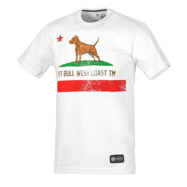Pit Bull Koszulka CALIFORNIA FLAG Biała