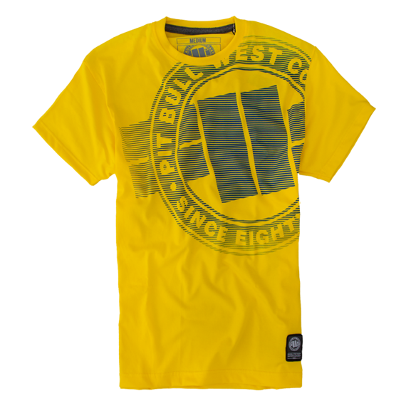 Pit Bull Koszulka Raster Loga Żółta
