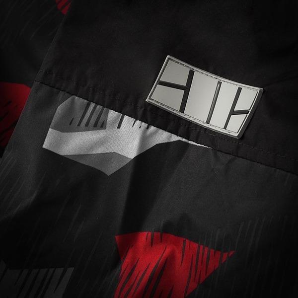 Pit Bull Kurtka przeciwdeszczowa HOMELANDS II Camo Szaro-Czerwona