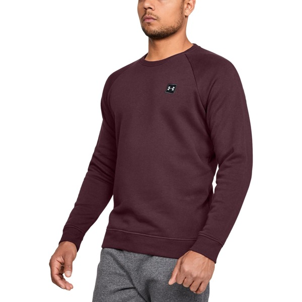 Under Armour Bluza RIVAL FLEECE CREW Bordowa