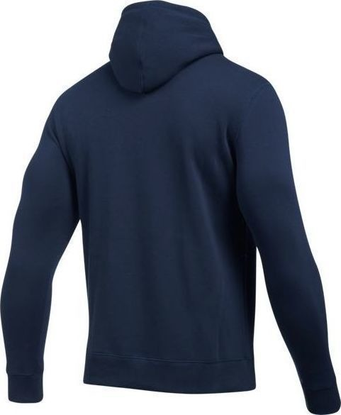 Under Armour Bluza z kapturem  RIVAL FITTED PULL OVER Granatowa