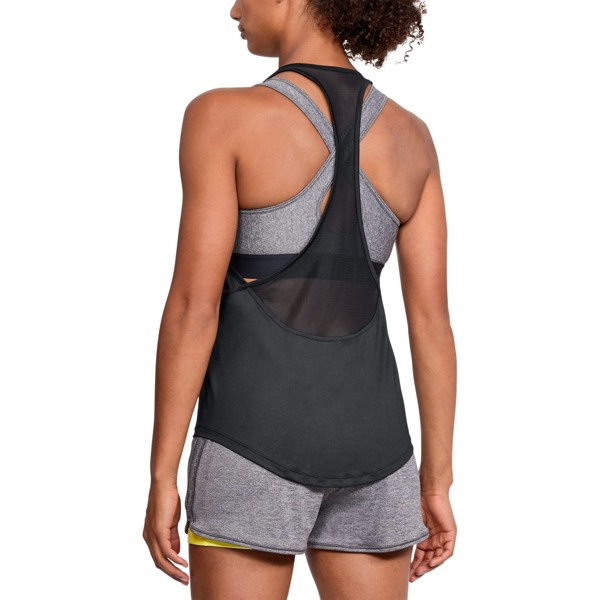 Under Armour Koszulka HG Armour Mesh Back Tank Czarna
