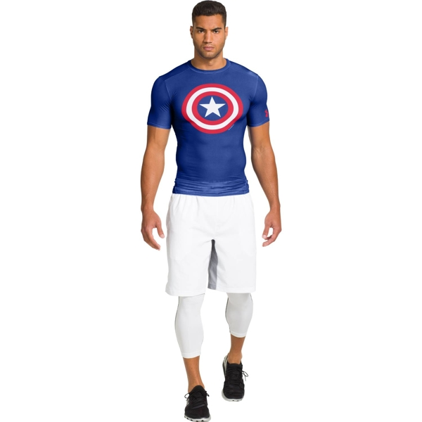 Under Armour Rashguard ALTER EGO CAPTAIN AMERICA Niebieski